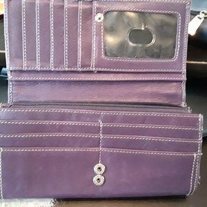Tignanello purple leather wallet